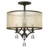 This item: Mime French Bronze Three Light Foyer Semi-Flush