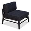 This item: Black Midcentury Upholsterd Chairs