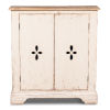 This item: White 11-Inch Pierced Doors Wall Commode