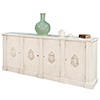 This item: White Crested Wall Cabinet