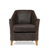 This item: Brown Granville Leather Chair