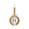 This item: Savannah Heirloom Gold One-Light Wall Sconce with Clear Heritage Crystal
