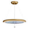 This item: Infinite Aura Glimmer Gold 30-Inch LED Pendant with Swarovski Crystal Pendalogue