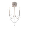 This item: Verdana Antique Silver Two-Light Wall Sconce