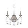 This item: Renaissance Nouveau Antique Silver Two-Light Wall Sconce