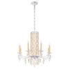 This item: Sarella Heirloom Gold Eight-Light Chandelier with Clear Crystal from Swarovski