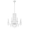 This item: Sarella Stainless Steel Eight-Light Chandelier with Clear Heritage Crystal