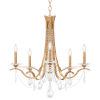 This item: Vesca French Gold 29-Inch Five-Light Chandelier