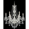 This item: Arlington Silver Six-Light Clear Heritage Handcut Crystal Chandelier, 24W x 28H x 24D