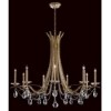 This item: Vesca Heirloom Gold Nine-Light Chandelier with Clear Spectra Crystal