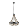 This item: Oglesby Washed Pine Four-Light Chandelier