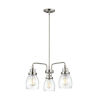 This item: Belton Brushed Nickel Three-Light LED Chandelier with Seeded Glass