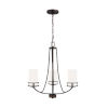 This item: Robie Bronze Three-Light Chandelier with Etched White Inside Shade Energy Star