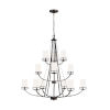This item: Robie Burnt Sienna 12-Light Chandelier with Etched White Inside Shade Energy Star