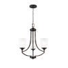 This item: Hanford Burnt Sienna Three-Light Chandelier with Satin Etched Shade