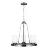 This item: Kemal Brushed Nickel Three-Light Chandelier with Etched White Inside Shade Energy Star