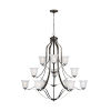 This item: Emmons Heirloom Bronze 12-Light Chandelier with Satin Etched Shade Energy Star