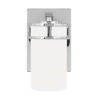 This item: Robie Chrome One-Light Bath Vanity with Etched White Inside Shade