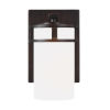 This item: Robie Bronze One-Light Bath Vanity with Etched White Inside Shade Energy Star