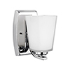 This item: Waseca Chrome Five-Inch One-Light Bath Sconce