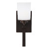 This item: Kemal Bronze One-Light Bath Vanity with Etched White Inside Shade