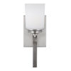 This item: Kemal Brushed Nickel One-Light Bath Vanity with Etched White Inside Shade