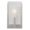 This item: Syll Brushed Nickel One-Light Bath Vanity with Clear Highlighted Satin Etched Shade Energy Star