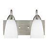 This item: Seville Brushed Nickel Energy Star 14-Inch Two-Light Bath Vanity