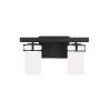 This item: Robie Midnight Black Two-Light Bath Vanity with Etched White Inside Shade Energy Star