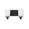 This item: Kemal Burnt Sienna Two-Light Bath Vanity with Etched White Inside Shade