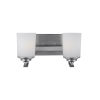 This item: Kemal Brushed Nickel Two-Light Bath Vanity with Etched White Inside Shade Energy Star