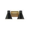 This item: Towner Brown Two-Light Bath Vanity with Black Shade