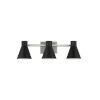 This item: Towner Gray Three-Light Bath Vanity with Black Shade