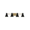 This item: Towner Brown Four-Light Bath Vanity with Black Shade Energy Star