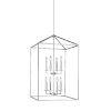 This item: Perryton Chrome Eight-Light Lantern Pendant