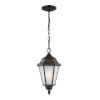 This item: Bakersville Heirloom Bronze One-Light Outdoor Pendant with Satin Etched Shade