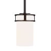 This item: Robie Burnt Sienna One-Light Mini Pendant with Etched White Inside Shade