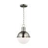 This item: Hanks Antique Brushed Nickel Mini Pendant