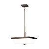 This item: Ellis Harper Brushed Oil Rubbed Bronze Three-Light Pendant with Etched White Inside Shade Energy Star