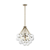 This item: Bronzeville Satin Bronze Three-Light Pendant