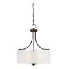 This item: Norwood Burnt Sienna Three-Light Pendant with Clear Highlighted Satin Etched Shade