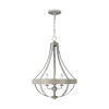 This item: Davlin French Washed Oak Three-Light Pendant