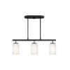 This item: Oslo Midnight Black Three-Light Mini Pendant without Bulbs