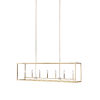 This item: Moffet Street Satin Brass Seven-Light Pendant Energy Star