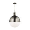 This item: Hanks Antique Brushed Nickel 16-Inch Pendant with LED Bulb