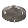This item: Towner Brushed Nickel 10-Inch Three-Light Pendant Canopy