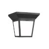 This item: Lavon Black One-Light Outdoor Flush Mount with Smooth White Shade Energy Star