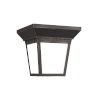 This item: Lavon Antique Bronze One-Light Outdoor Flush Mount with Smooth White Shade