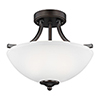 This item: Geary Burnt Sienna Energy Star 14-Inch Two-Light Semi Flush Mount
