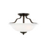 This item: Emmons Bronze Two-Light Semi Flush Mount with LED Bulbs